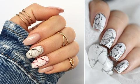 30 ไอเดียทำเล็บลายหินอ่อน Marble Nails เสริมดวง แถมสวยเก๋ มีความหรู !!