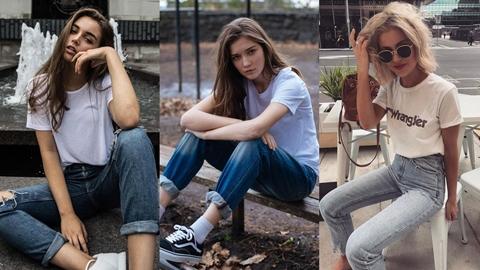 แมทช์ลุคสุดชิคได้ง่ายๆด้วย 'เสื้อยืดสีขาวกับกางเกงยีนส์' สไตล์สายฝ.