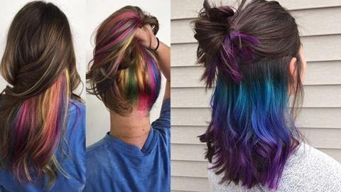 สวยแซ่บ กับไอเดีย hidden hair colors ซ่อนสีผมสุดชิค
