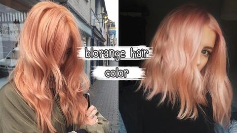 ไอเดียสีผมสุดเปรี้ยวจี๊ดดดด Blorange Hair Color