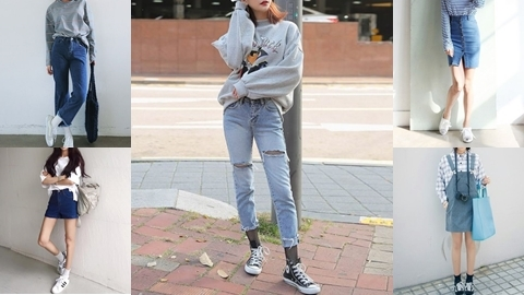 15 ไอเดียมิกซ์แอนด์แมทชุดสวยให้เข้ากับรองเท้าผ้าใบ !!
