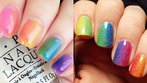 Rainbow on nails มาแต่งสายรุ้งบนปลายเล็บกัน!