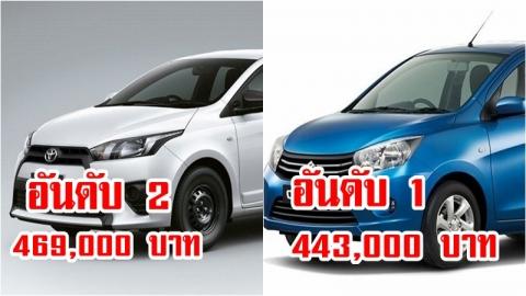 ถูกสุด! รวม 10 รถยนต์เกียร์ออโต้ที่มีราคาถูกที่สุดในตลาดช่วงเวลานี้