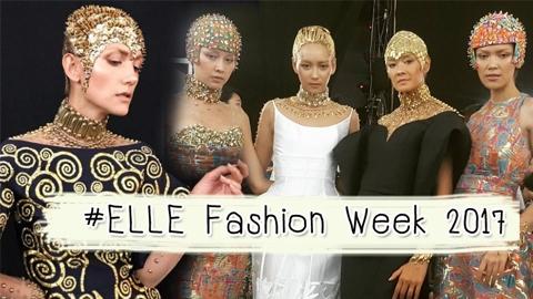 รันเวย์ลุกเป็นไฟ !! รวมแฟชั่นสุดร้อนแรงส่งตรงจากรันเวย์ ELLE Fashion Week 2017