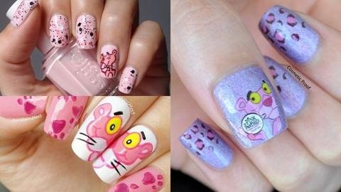 รวมไอเดียแต่งเล็บลาย 'pink panther' เจ้าเสือสีชมพู