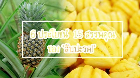 ต้องหามากินแล้ว!!! 6 ประโยชน์  15 สรรพคุณ ของสับปะรด!
