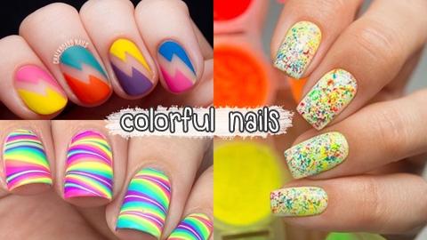 รวมไอเดียแต่งเล็บสี colorful (คัลเลอร์ฟลู) สวยสดใส!
