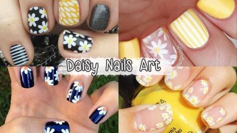 เพ้นท์เล็บลายดอกเดซี่ เพิ่มความน่ารักให้ปลายเล็บกับ 'Daisy on nails'