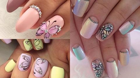 ลายแต่งเล็บแบบผู้หญิ๊ง..ผู้หญิง 'butterfly nails art'