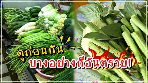 กินผักไม่ดีเสมอไป บางอย่างก็อันตราย มีพิษ!