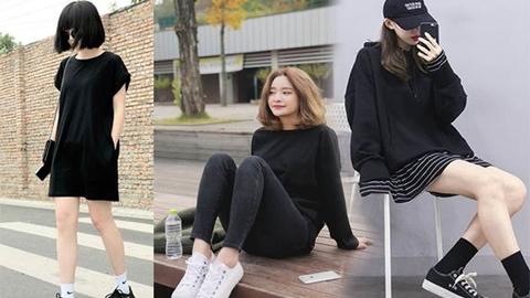 8 แฟชั่นแต่งตัวโทนสีดำ สไตล์สาวเกาหลี