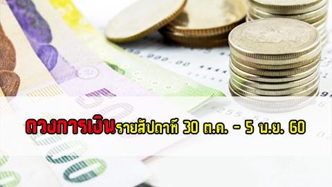 ดวงการเงินรายสัปดาห์ 30 ต.ค. - 5 พ.ย. 2560