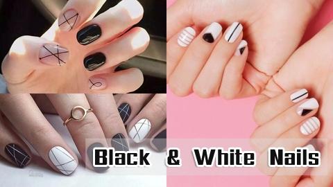 12 ลายแต่งเล็บสีขาวดำ ทำง่ายๆ แต่ดูดีมากกกก!