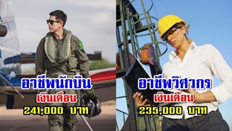 ต้องอิจฉา!! 25 อาชีพเงินเดือนสูงปรี๊ดในไทย สูงสุดแตะ 500,000 บาท