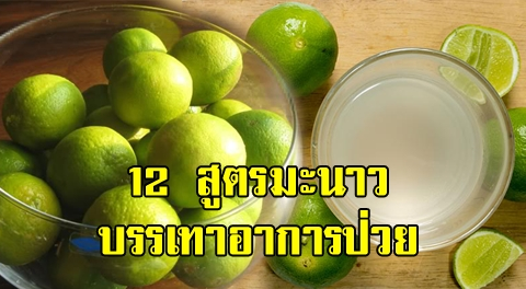 12 สูตรมะนาวสมุนไพร บรรเทาอาการป่วย ช่วยฟื้นฟุสภาพร่างกาย !!!