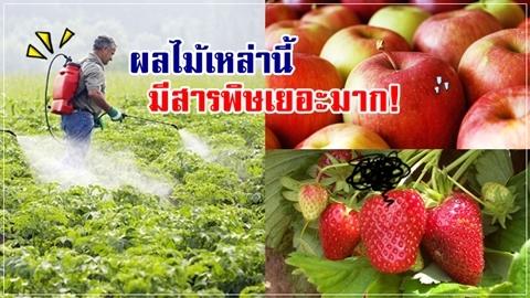ผลไม้เหล่านี้ มียาฆ่าแมลง-สารพิษเยอะมาก!!
