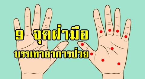 9 กดจุดฝ่ามือบำบัดโรค ช่วยบรรเทาอาการปวดตามร่างกายได้ดีเยี่ยม !!!