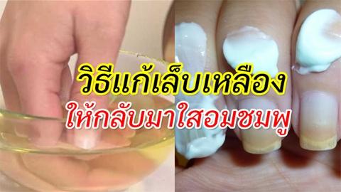 เล็บเหลืองแก้ได้! วิธีแก้เล็บเหลืองคล้ำด้วยยาสีฟัน ให้กลับมาเล็บใสอมชมพูดูสุขภาพดี