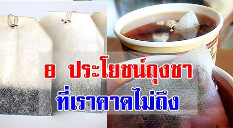 มีดีอย่าทิ้ง !!! 8 เรื่องมหัศจรรย์ ''ถุงชา'' หลังชงชาแล้วนำไปใช้ประโยชน์ได้อีกเพียบ !!!