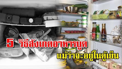 รีบบอกเพื่อน!! 5 วิธีสังเกตอาหารบูด แม้จะแช่อยู่ในตู้เย็น!!