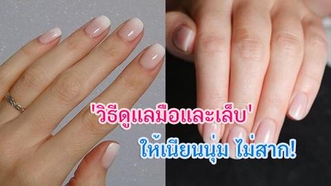 มามือสวยกัน! 'วิธีดูแลมือและเล็บ' ให้สวยงาม เนียนนุ่ม ไม่แห้งเหี่ยว ไม่สาก!