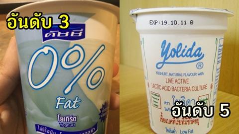 7 โยเกิร์ตน้ำตาลน้อยไขมันต่ำ สำหรับคนไดเอท อยากหุ่นดีแบบไม่ต้องอดอาหาร