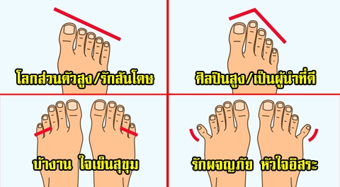 ดูดวงทายนิสัยจาก 9 รูปเท้า-นิ้วเท้า ว่าคุณนั้นมีนิสัยเฉพาะตัวอย่างไร !!!