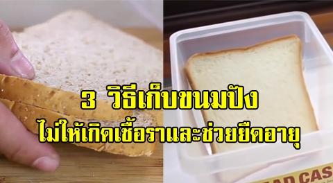 3 วิธีเก็บขนมปังเพื่อป้องกันเชื้อรา และช่วยยืดอายุขนมปังให้นานยิ่งขึ้น !!!