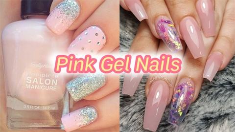สวยเรียบง่าย หรือจะน่ารักหวาน ๆ ก็ได้ ด้วยไอเดีย 'Pink Gel Nails'