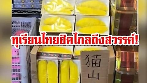 ทุเรียนไทยฮิตไกลถึงโลกหน้า! ''ชาวจีนทำกงเต๊กทุเรียน'' เผาให้บรรพบุรุษลองชิมบนสวรรค์!!