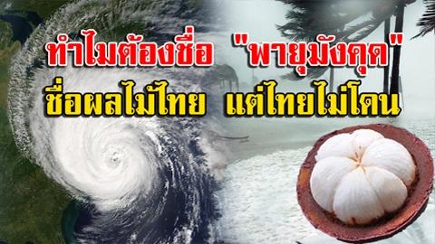หายสงสัย!! เปิดที่มา ทำไมต้องชื่อ ''พายุมังคุด'' เกี่ยวอะไรกับผลไม้ไทย!!