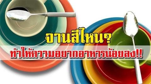 รู้หรือไม่!! จานสีไหน ที่ทำให้ความอยากอาหารน้อยลง!!