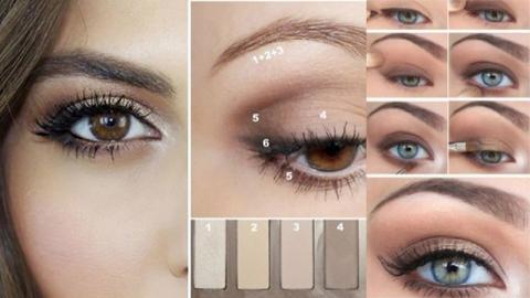 How to แต่งตาโทนสีนู้ดเบจ สำหรับสาวเบ้าตาลึก