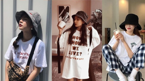 ไอเดียใส่หมวก Bucket ให้ดูสวย หวาน เหมาะกับแดดเมืองไทย