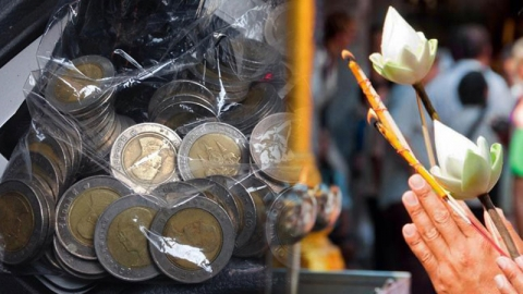 แก้กรรมหนี้สินรุงรัง เจ้าหนี้ตามทวง ด้วยวิธีทำบุญเสริมดวงเหรียญสิบบาท