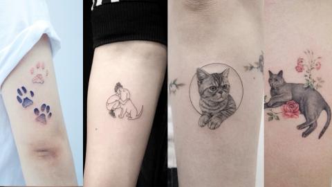 ไอเดียรอยสักเอาใจทาสหมา ทาสแมวสุดน่ารัก