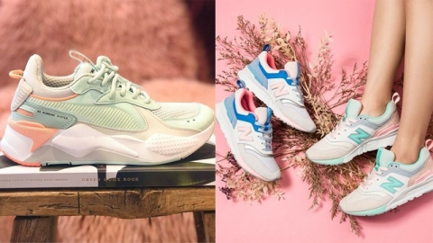 ส่องเทรนด์แฟชั่นรองเท้าผ้าใบโทนสีพาสเทล ที่กำลังมาแรงในปี 2019
