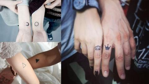 ไอเดียรอยสักแบบ Couple Tattoo รอยสักสไตล์มินิมอลเอาใจคนมีคู่