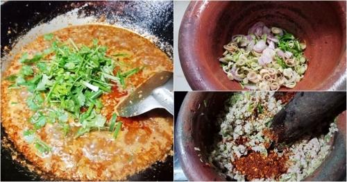 เมนู ''น้ำพริกหมูสับ'' เผ็ดจัดจ้าน ทานคู่ผักสด อร่อยมาก