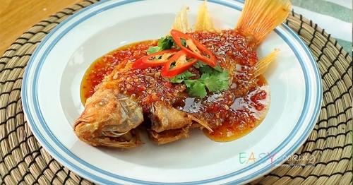 สูตรปลาราดพริก น้ำซอสเข้มข้น อร่อยฟินยกกำลังสอง