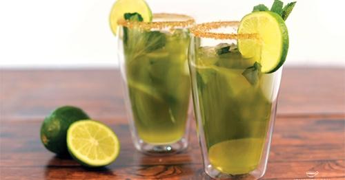 แจกสูตร น้ำชาเขียวมะนาว ดื่มเมื่อไหร่ก็ได้สุขภาพดี!!