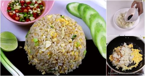 สูตรนี้ทำง่าย!! ข้าวผัดไข่+พริกน้ำปลา
