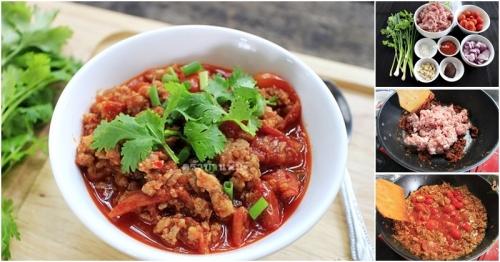 สอนทำ น้ำพริกอ่อง สูตรชาวเหนือ อร่อยล้ำ ลำแต้ๆ