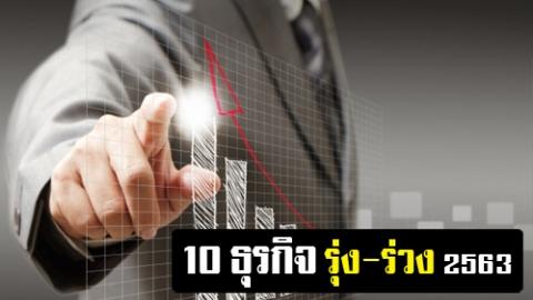 หอการค้าไทย เผย 10 อันดับธุรกิจ รุ่ง-ร่วง ปี 2563