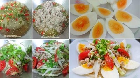 แจกสูตรยำไข่ต้ม ทำง่าย อร่อยแซ่บ!