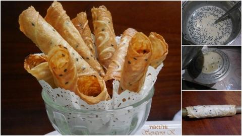 สูตร ''ขนมทองม้วน'' สูตรโบราณ หอม อร่อย