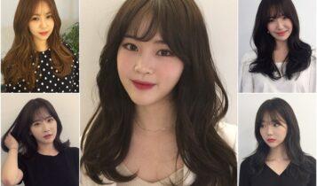 แบบทรงผมเกาหลี 2020 ทรงผมหน้าเด็ก ทรงผมยาวประบ่า