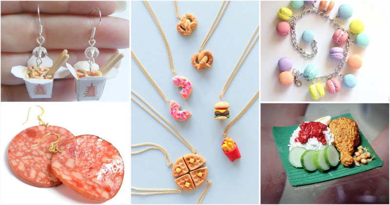 พาส่องแฟชั่น Food Earrings เครื่องประดับลายของกิน น่ารัก น่ากิน